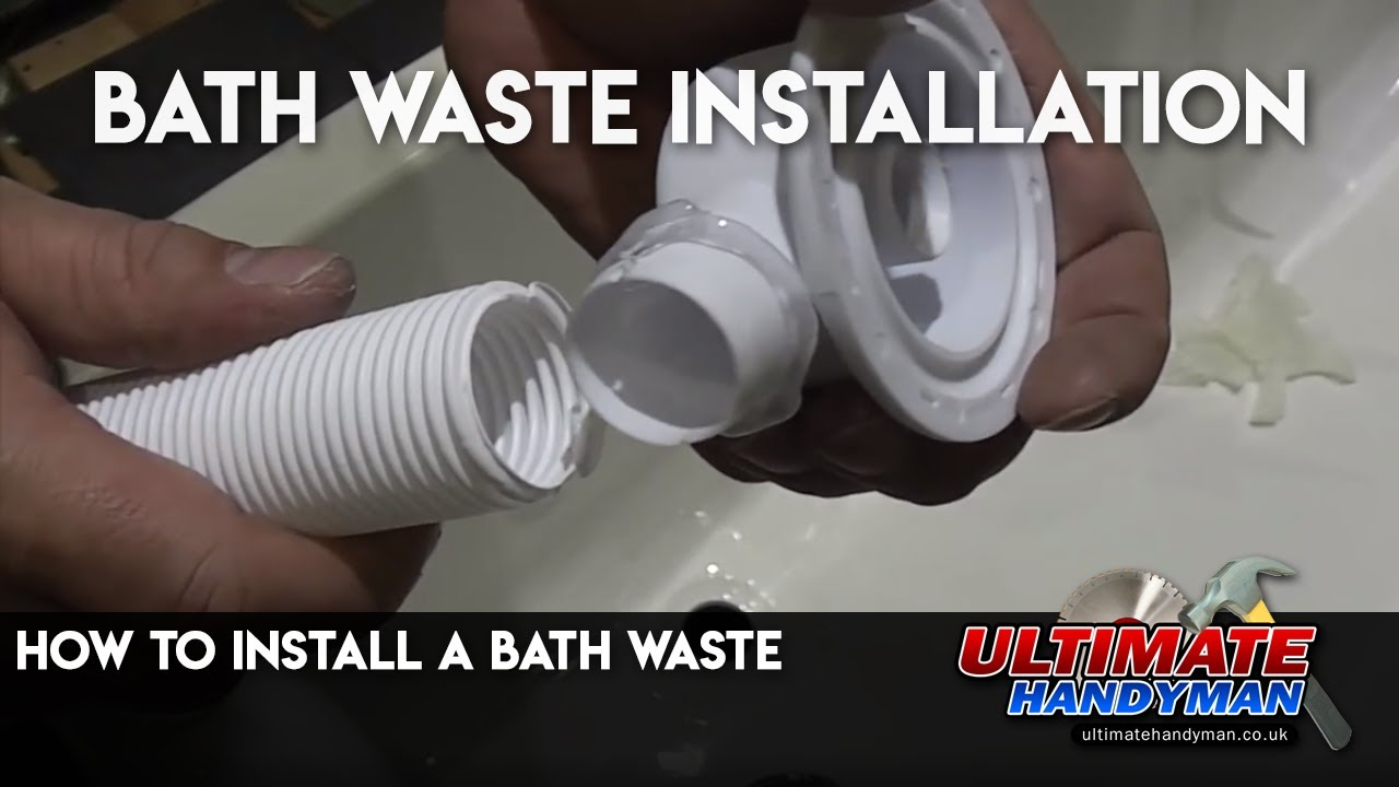 How To Install A Bath Waste Youtube