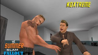 Chris Jericho vs Brock Lesnar Backstage Assault WWE SvR 2011