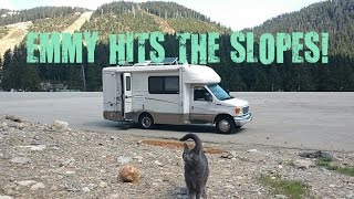 RV Life: Emmy hikes a ski run and we hit the beach!