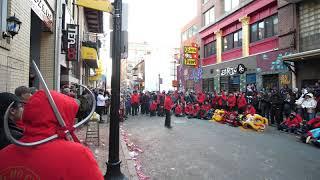 Chinatown Boston Lunar New Year Lion Dance parade 2019  春节 5 Kung Fu  功夫