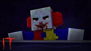 IT THE CLOWN MINECRAFT - THE KIDS ENTER THE SEWERS!