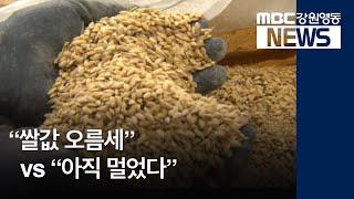 (R)쌀값 오르지만 아직 멀었다는 농민