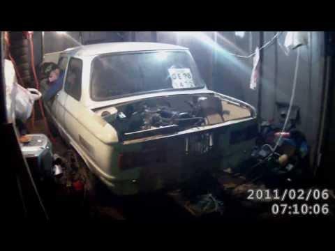 Первый выезд из гаража с мотором ваз 2103 1.5L