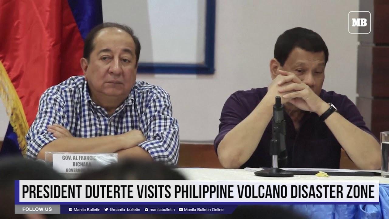 President Duterte visits Philippine volcano disaster zone