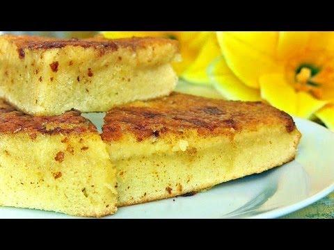 МАННИК  на молоке:Пирог  из манки - VIKKAvideo