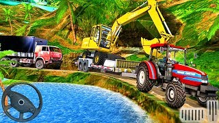 Farming Tractor Construction Vehicles - Transport Driving Offroad - Android GamePlay