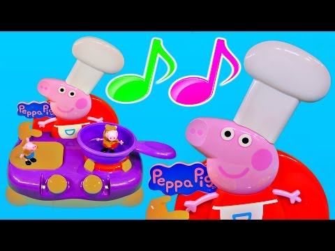 Peppa Pig Sing Along Kitchen Play Doh Muddy Puddles Cooking Playset Peppa's Song and Dance Toys