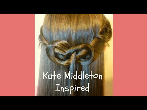 Kate Middleton Inspired Half-Up Hairstyle, Princess Hairstyles