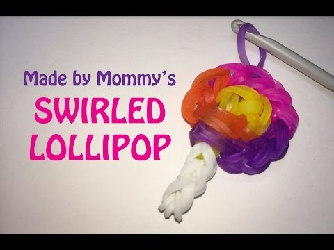 Swirled Lollipop Candy Charm Without The Rainbow Loom video