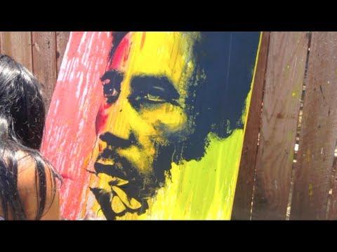 Tiffanie Anderrson Painting Bob Marley