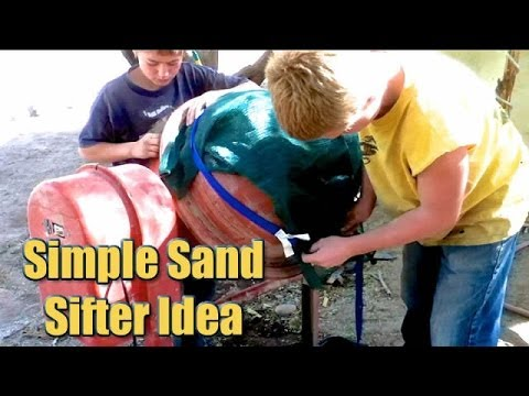 Simple Rotary Soil Sifter Idea - Mechanical Sand Sifting
