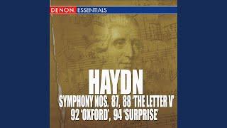 "Symphony No. 92 in G Major ""Oxford Symphony"": I. Adagio - Allegro spiritoso"