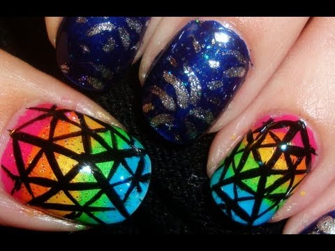 NYC Ball Drop New Years Nail Art