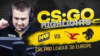 CSGO Highlights: NAVI vs Mousesports, North @ ESL Pro League S6 EU
