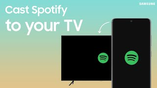 Play Spotify on Samsung TV from a Galaxy phone with SmartThings | Samsung US