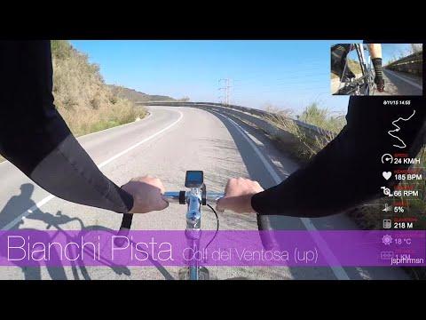 Cycling in Catalonia Spain - Bianchi Pista Steel fixed gear track bike Coll de Ventosa