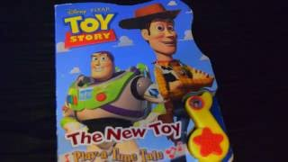 TOY STORY THE NEW TOY PLAY-A-TUNE TALE PLAY-A-SONG SOUND STORY WOODY BUZZ LIGHTYEAR SONGS MUSIC