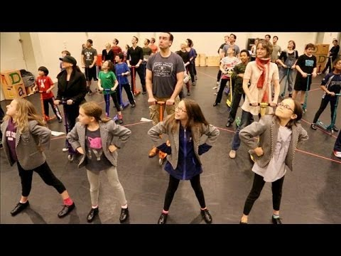 Matilda  Cast Preps for the Thanksgiving Day Parade