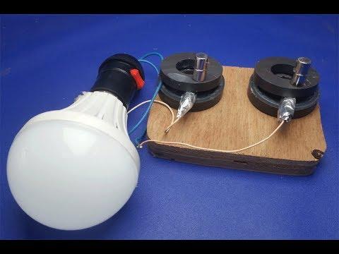 Free Energy Light bulbs - using Magnet And Coal stones thumbnail