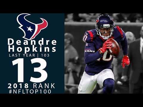 #13: DeAndre Hopkins (WR, Texans) | Top 100 Players of 2018 | NFL