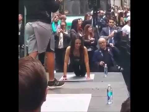 Jordana Brewster & Harley Pasternak workout in Wall Street