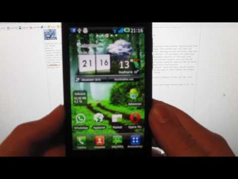 How to root LG Optimus Speed um Crapware zu entfernen