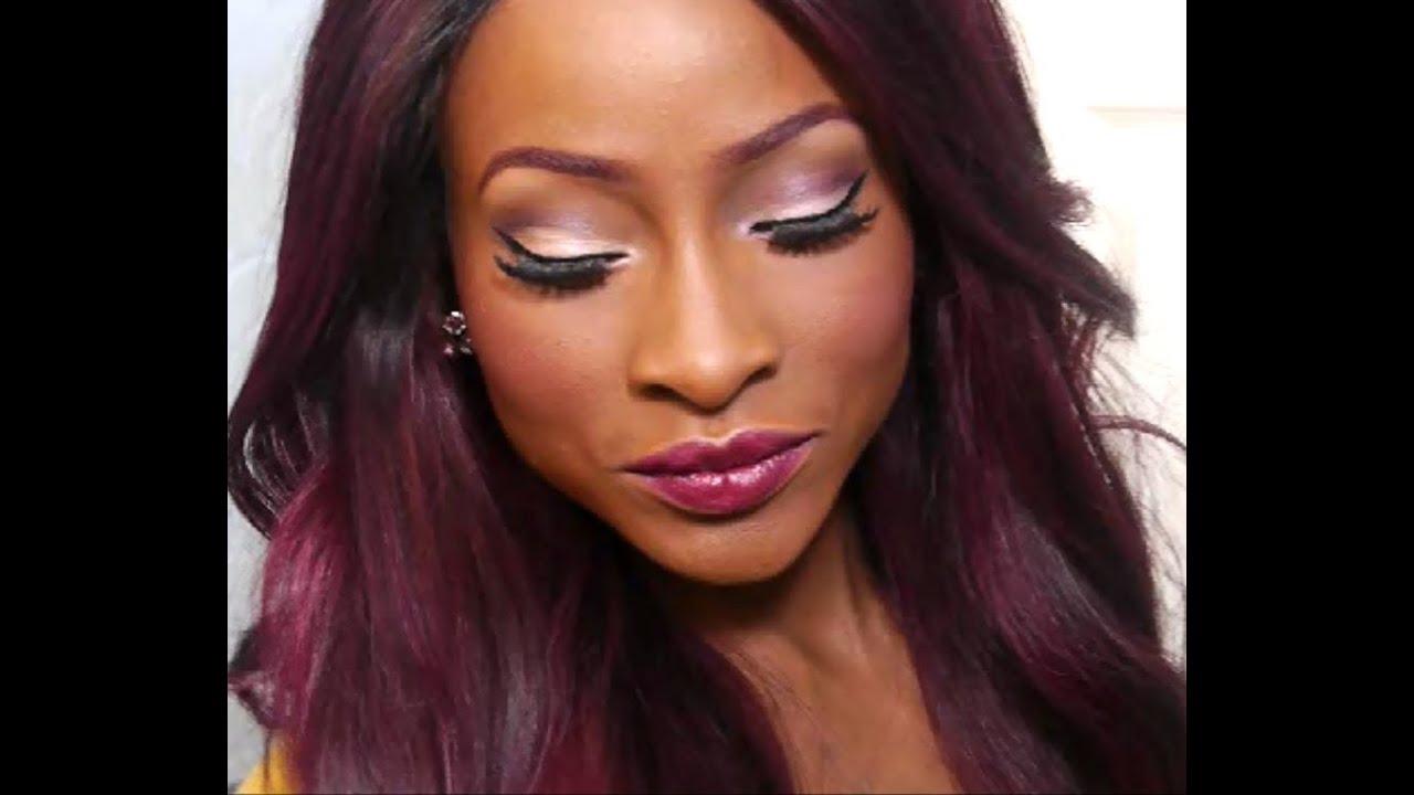 makeup tutorial burgundy love youtube