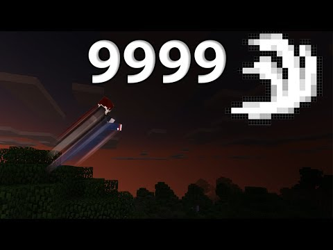 Experiment: Giving myself a speed boost of 9999+ (Minecraft PE)