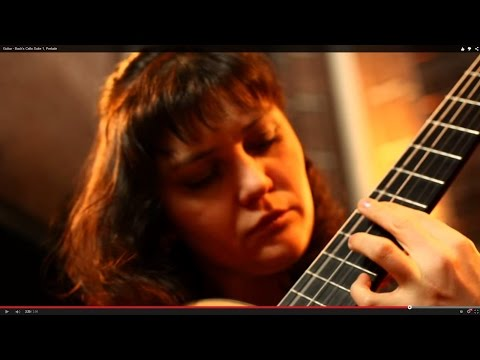Classical Guitar - Bach's Cello Suite 1, Prelude, by Irina Kulikova
