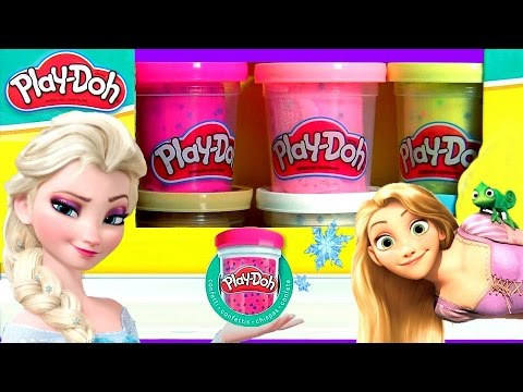 Play Doh Confete Bonecas Glitter Glider Disney Frozen com Vestidos Magic Clip