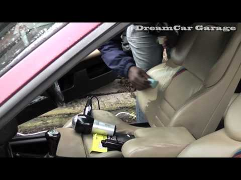 How to repair a leather car seat rip/hole (click on ads to support the show. Thank you)