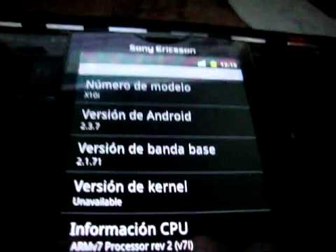cyanogenmod 7.1 android 2.3.7 en xperia x10