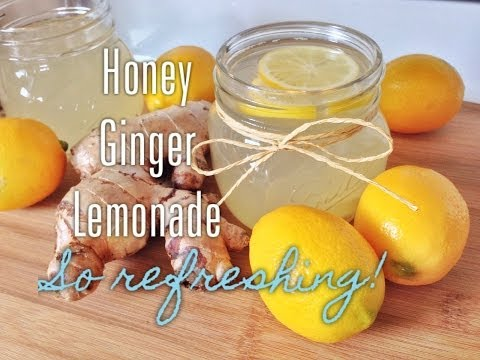 Healthy & Easy Honey Ginger Lemonade Recipe - Great Drinks for Spring/Summer
