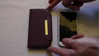 Samsung Galaxy S3 Leather Style Wallet Case Review - Androidizen
