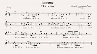 IMAGINE: (flauta, violín, oboe...) (partitura con playback)