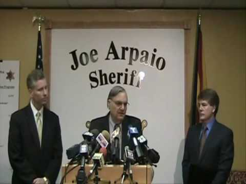 Sheriff Joe Press Confernece