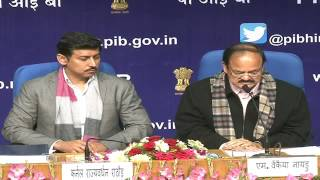 Release of Govt of India Calendar and Press in India report by HMIB