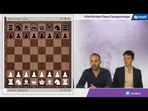 British Chess Championship 2016 - Round 1 with IM Lawrence Trent and GM Niclas Huschenbeth