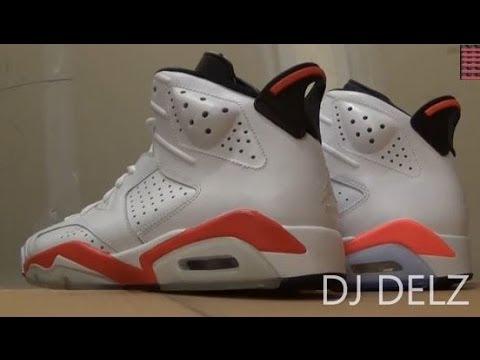 2014 Air Jordan 6 Infrared White Sneaker Review Color Comparison W/  @DjDelz Hanamichi Sakuragi