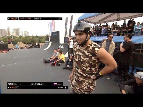 Ruslan KIM Russia - semi final ROLLER PRO FISE World CHENGDU 2016