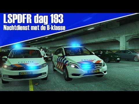 GTA 5 lspdfr dag 193 - Nachtdienst met de Mercedes B-klasse!