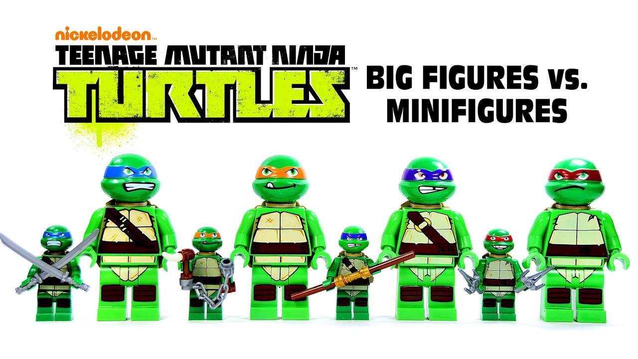 Lego teenage mutant ninja turtles big figures vs minifigures knockoffs