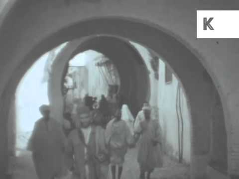 1930s Tangier, Morocco, Rare 16mm Home Movie Footage