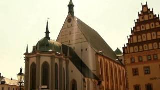 Marktplatz mit Freiberger Dom (Dom St. Marien)