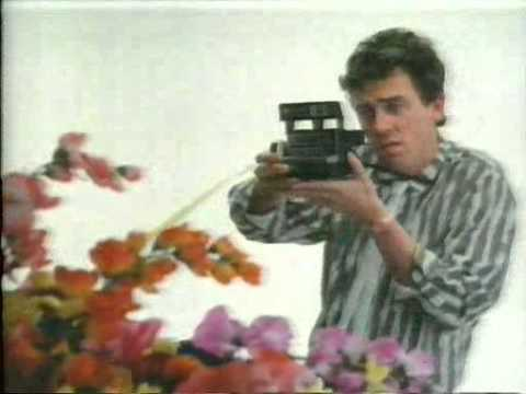 80s advert Polaroid instant camera with Hugh Laurie