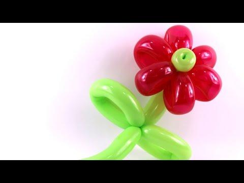 balloon twisting flower instructions