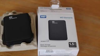 WD Elements 1.5TB Portable HDD Unboxing and Review