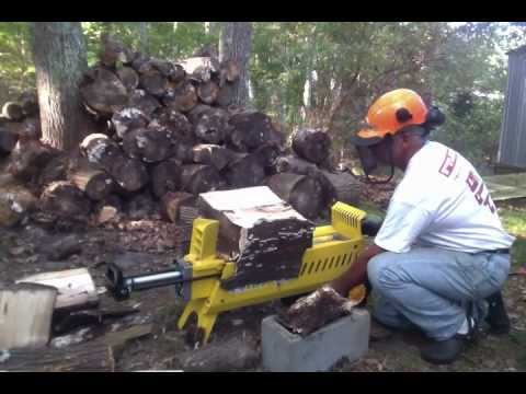 WoodEze Electric Log Splitter - handling larger logs