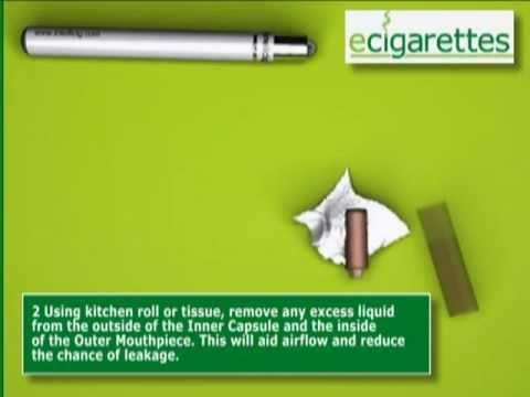 The Intellicig EVOlution Electronic Cigarette - Refilling with ECOpure