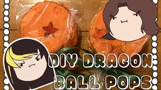 DIY - Cooking With The Grumps - Dragon Ball Rice Crispy Pops!